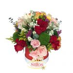 Varias flores y rosas